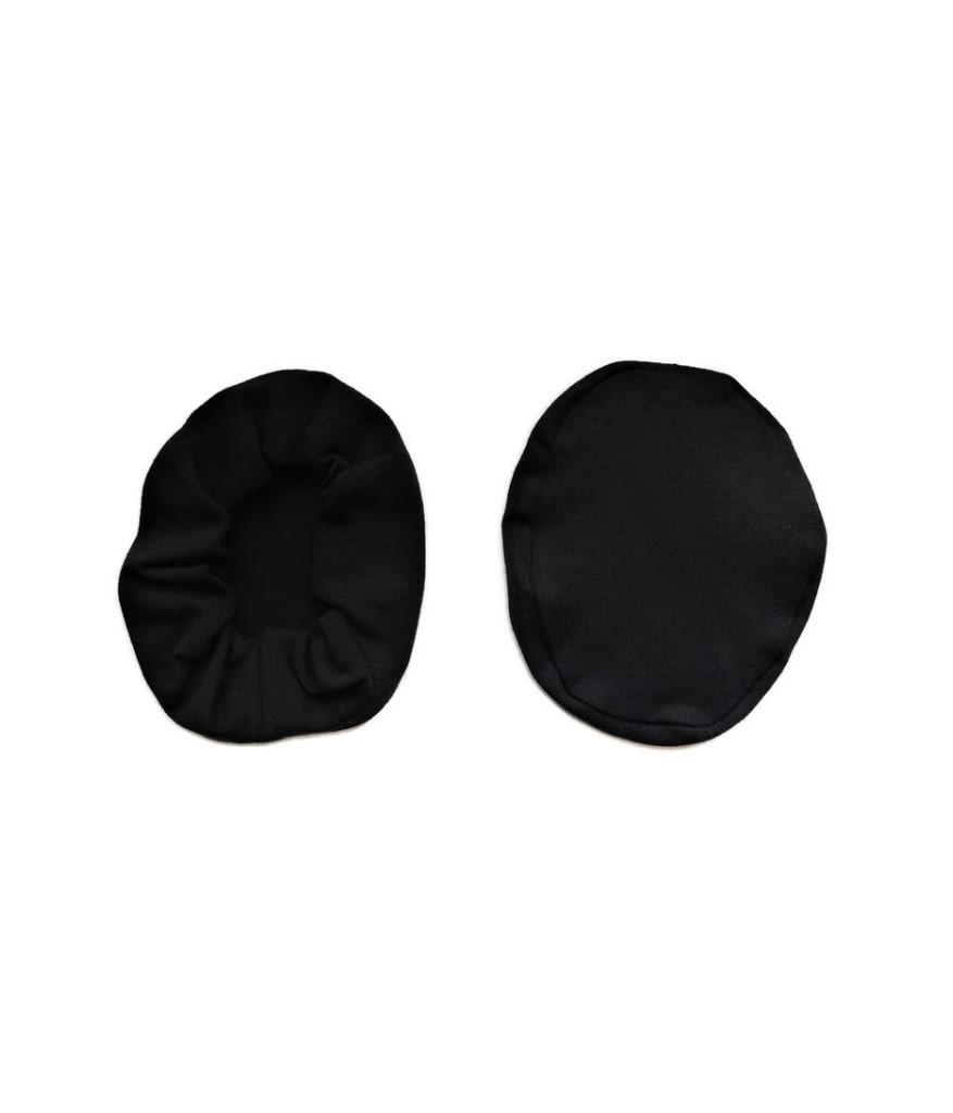nakladki materialowe bawelniane na sluchawki lotnicze czarne