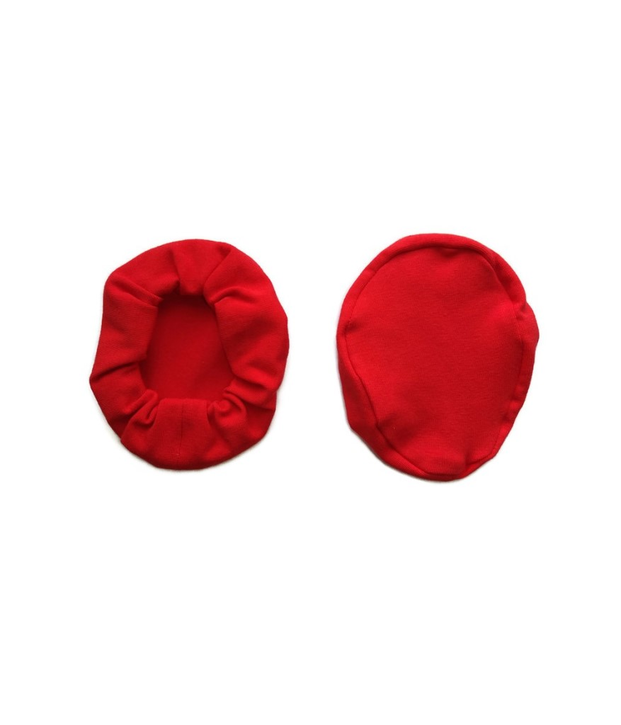 nakladki materialowe bawelniane na sluchawki lotnicze czerwone