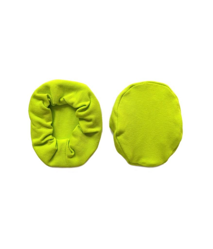 nakladki materialowe bawelniane na sluchawki lotnicze jasno zielone
