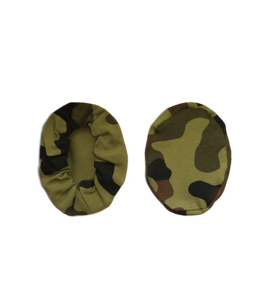 nakladki materialowe bawelniane na sluchawki lotnicze moro wojskowe