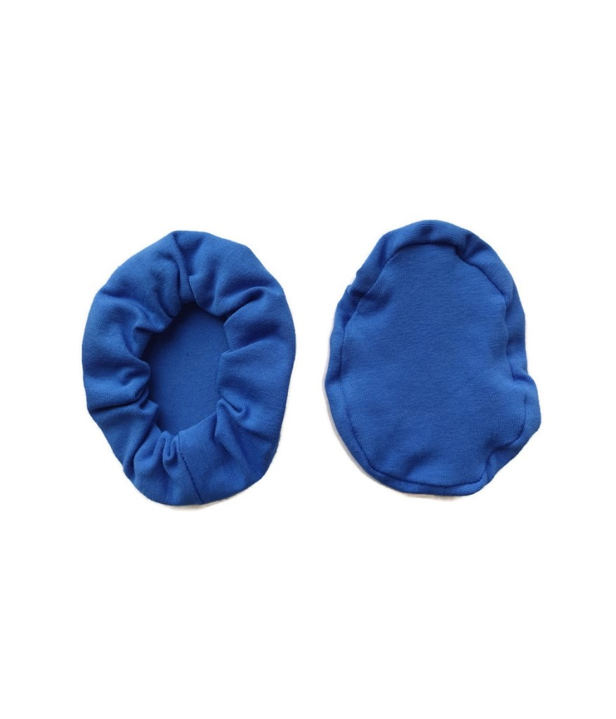 nakladki materialowe bawelniane na sluchawki lotnicze niebieskie