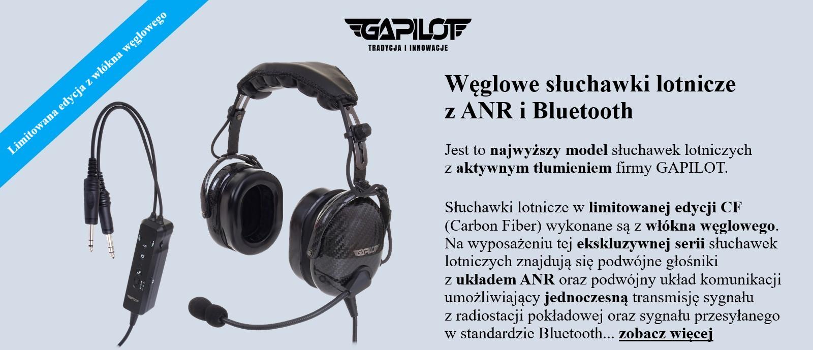 SLUCHAWKI LOTNICZE GA-1600CF ANR BT
