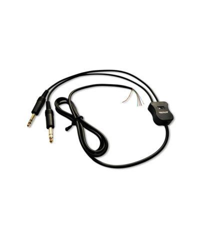 przewod kabel PJ do sluchawek lotniczych z przelacznikiem mono stereo
